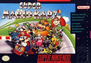 The cover of Super Mario Kart for the SNES (taken from http://dazcooke.files.wordpress.com/2011/05/snes-boxart.jpg?w=300&h=209)